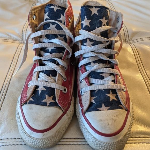 Vintage Converse Chuck Taylor American Flag Hi Top